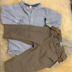 Baby Boy Suspender Outfit
